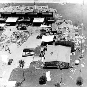 Hurricane Celia.  Corpus Christi, TX  8-3-70